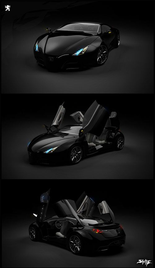 PEUGEOT - CONCEPT CAR Industrial Design Work... oh. my. goodness.