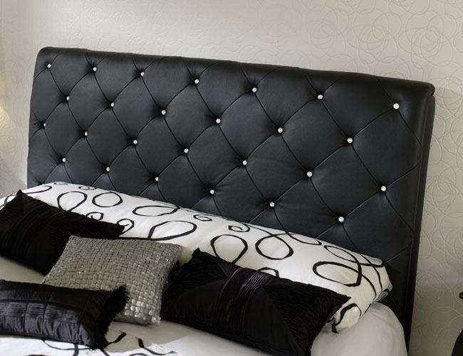 Bonded Leather Low Profile Platform Bed Frame W Paneled: Home Decor Ideas