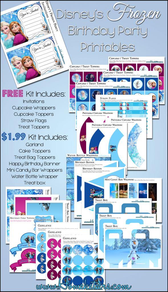 Frozen Birthday Party Printables #Free