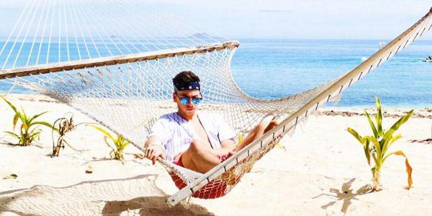 Max Key on the  Beachcomber Island Resort in Fiji. Photo / Instagram