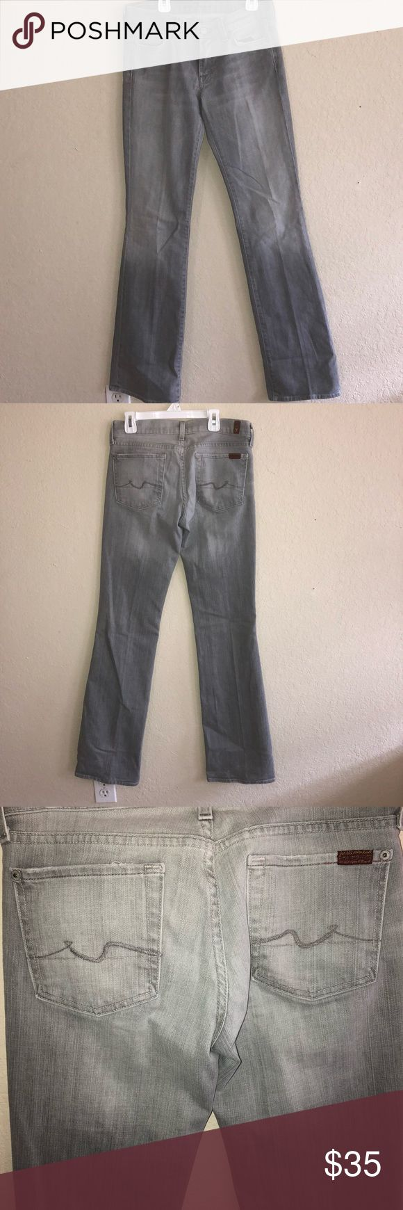 👖 7 for all man kind Jeans 👖 Light grey Bootcut Jeans 👖 EUC size 28 7 For All Mankind Jeans Boot Cut
