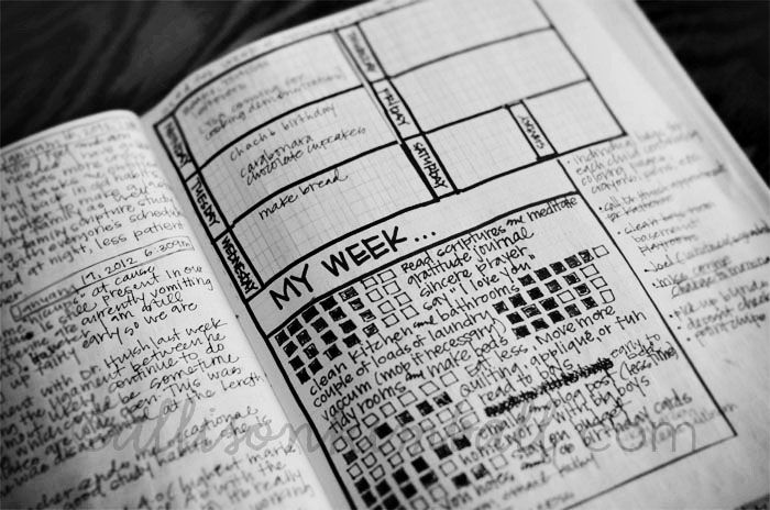 "Awesome planner page.  No details here, just the picture, but it's still a good example of an ""alternate"" setup."