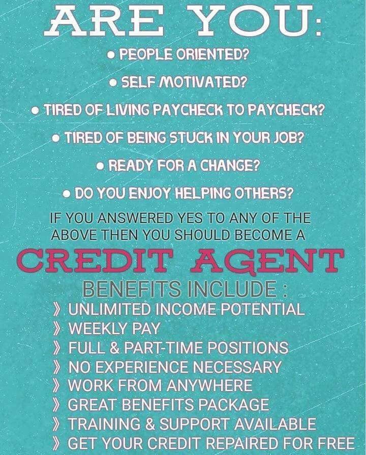 744 best credit repair images on pinterest fes real estate image result for credit agents wanted fandeluxe Gallery