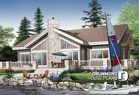 Discover The Plan 3942 Brookside Which Will Please You For Its 4 Bedrooms And For Its Mountain Styles Modern Style House Plans Waterfront Homes Lake House Plans