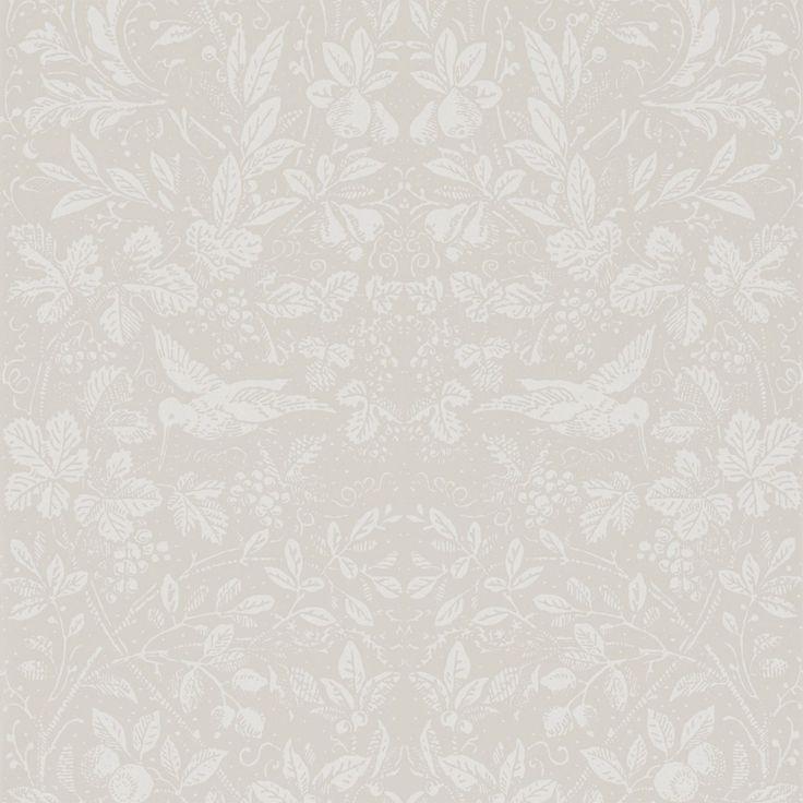 Tredje stora bilden av tapetern Penelope Ljusgrå