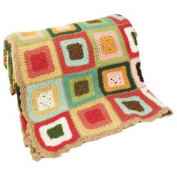 Gorgeous Alimrose cotton hand crocheted throw. 155cm x 135cm approx.
