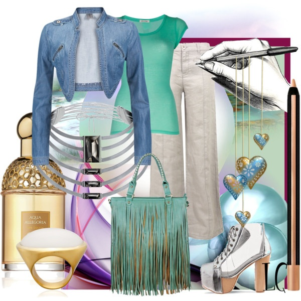 """""""Watercolors Casual Fashions Set"""" by lindacaricofe on Polyvore: Watercolor Casual"""