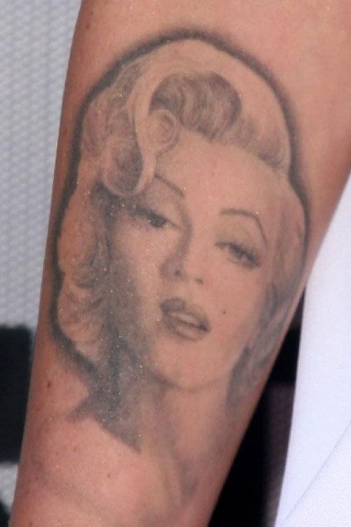hot Megan Fox apparently says what megan fox tattoos marilyn monroe ...