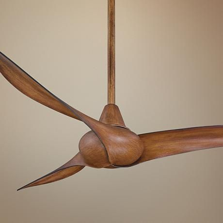 "52"" Minka Aire Wave Distressed Koa Ceiling Fan - probably not appropriate for my house and no light, but so pretty"
