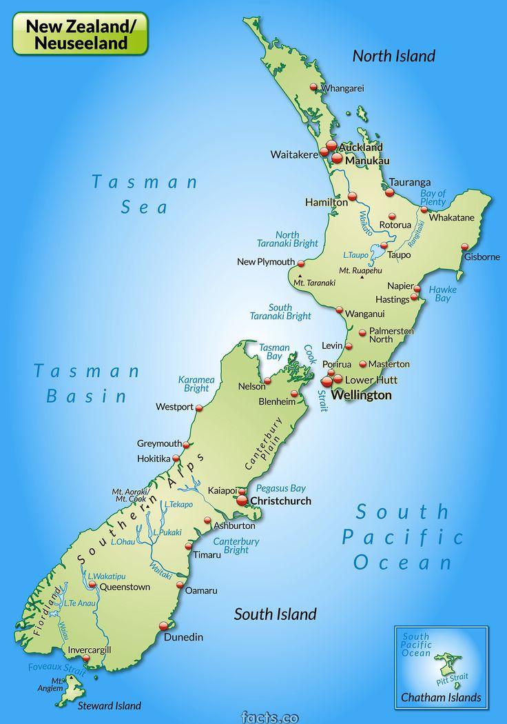 New Zealand Map Cities