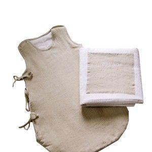 Baby sleeping bag TAHITI. Designed byLina Forlino. Availble on www.darwinshome.com