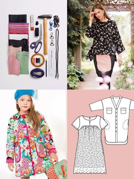 Schnittmuster: Basic-Shirt - Minibrusttasche - Februar 2016 - Schnitte Heft - burda style - Schnittmuster für ein Langarmshirt mit asymmetrischem Saum