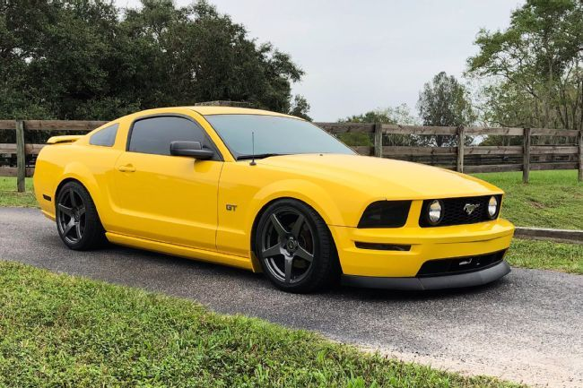 Tyson Krasley S Screaming Yellow Supercharged 2005 Ford Mustang Gt