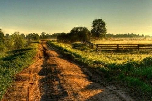 a quiet country road