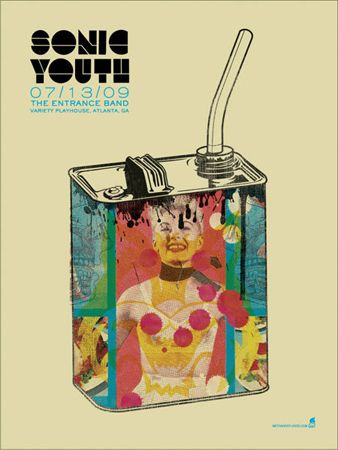 Sonic Youth - Gas Can «Gig Poster Archive« Methane Studios