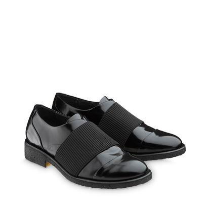 ANGULUS AW14 Womens Shoes with elastic band Style 3509 Black Shiny Leather