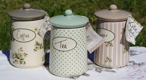Tea Sugar & Coffee Containers - Katie Alice