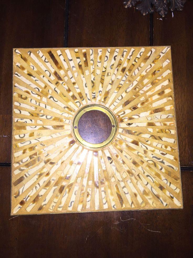 10 X 10 Brass And Ceramic Mid Century Modern Door Escutcheon | EBay