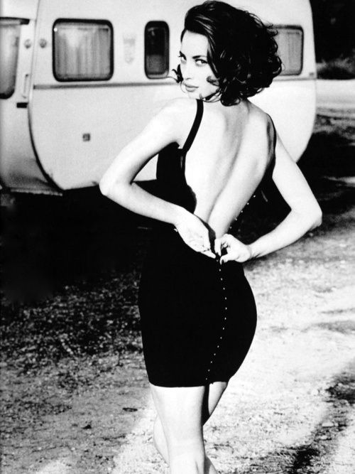 Christy Turlington photographed by Ellen von Unwerth, 1996.
