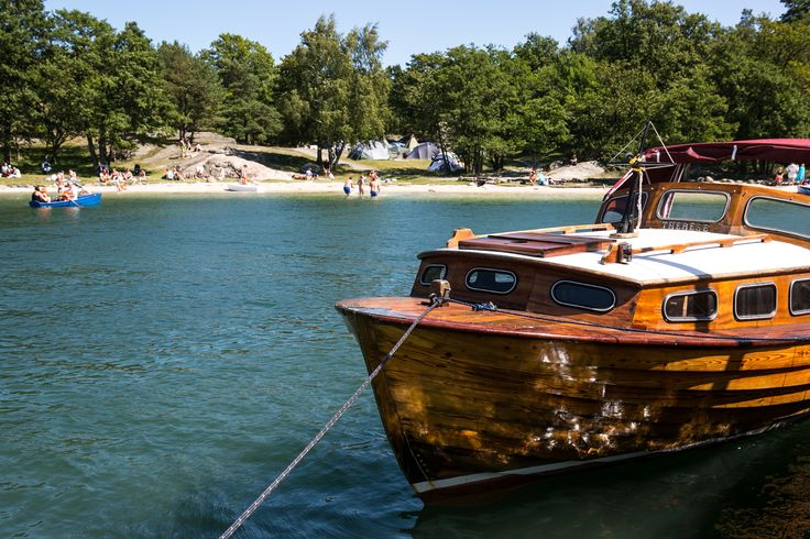 Traditional wooden boat at Bragdøya in Kristiansand, Norway. Foto: Adam Read©Visit Southern Norway