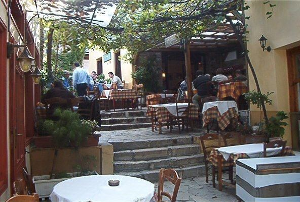 Athens - tavernas in Plaka, the old city of Athens