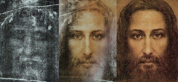 Painting of Jesus in the image of the shroud