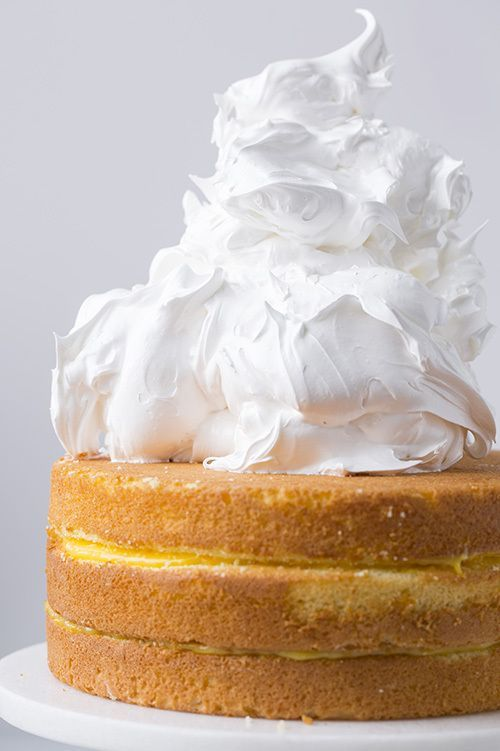 Orange Chiffon Cake with Orange Filling & Meringue via Cooking Classy #recipe