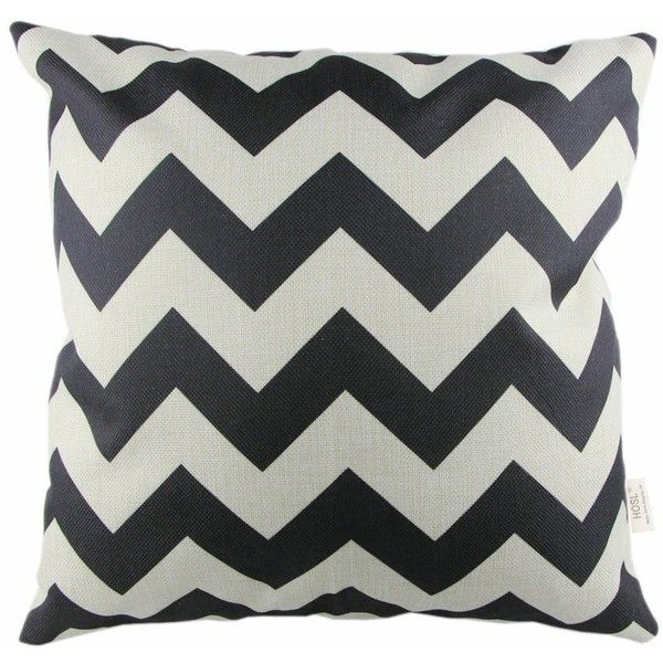 HOSL P61 4pcs Cotton Linen Sofa Home Decor Design Throw Pillow Case... (€12) ❤ liked on Polyvore featuring home, bed & bath, bedding, zigzag bedding, chevron bedding, black chevron bedding, zig zag bedding and chevron pattern bedding