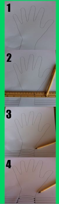 Kids Art Project!  Click to peek at the final project!!  3D hand!!!