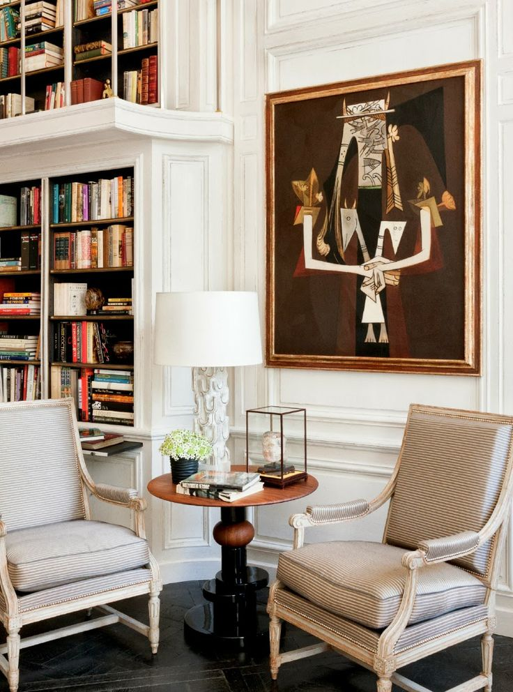 Every home should have: A Cozy and Functional Home Library ~ Lauren Santo Domingo's Paris home.