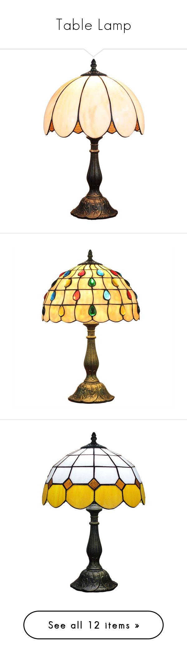"""""""Table Lamp"""" by homelava ❤ liked on Polyvore featuring home, lighting, table lamps, array0x14a6f658, european lighting, petal lamp, retro shades, blossom lights, retro table lamps and array0x1b8eb6d8"""