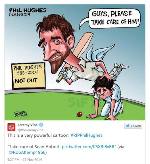 The world reacts to Phillip Hughes' death