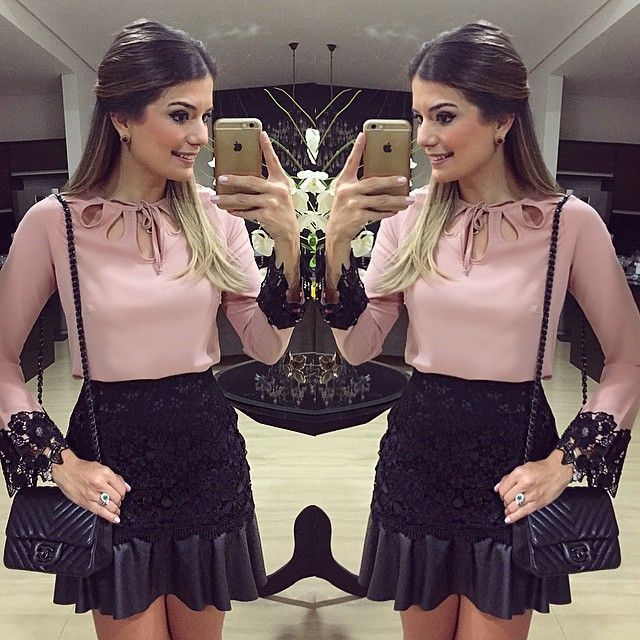 Fridaaay!! Camisa e saia hoje by @banana.lima | #lookdanoite #lookofthenight…