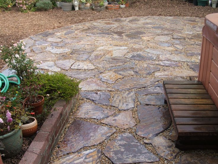 Flagstone patio ideas house pinterest for Flagstone patio designs