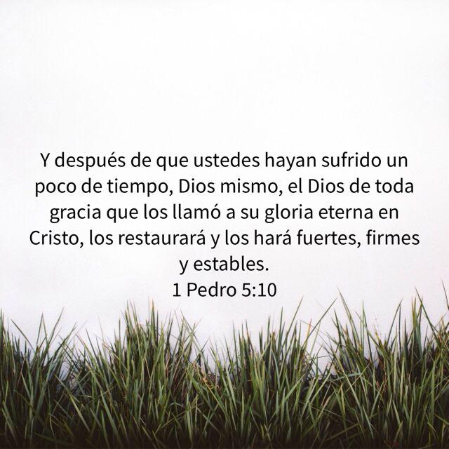Después de todo sufrimiento viene la fortaleza y la madurez para enfrentar nuevos sufrimientos . Cristo dijo que en el mundo tendríamos aflicción pero confiad yo he vencido al mundo. Amen Bendecidos!