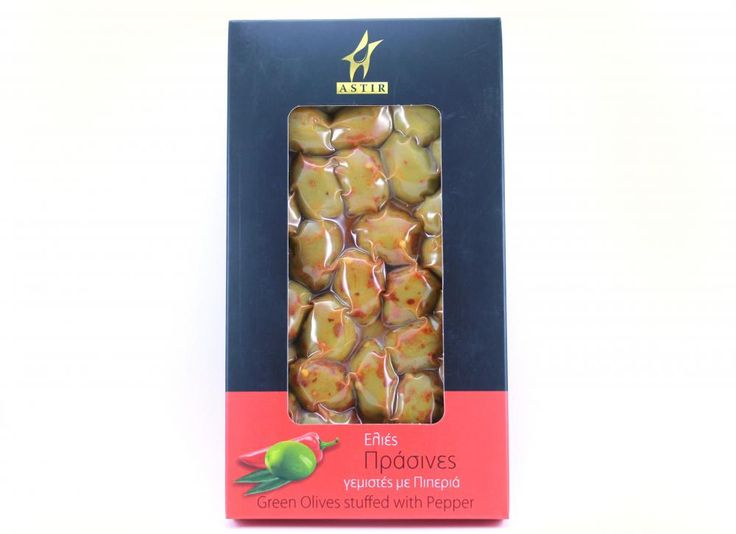 ''ASTIR '' Green Olives stuffed with Pepper