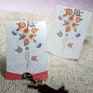 Products List-Korean style wedding invitation Card -한국 스타일 청첩장 Designed by Shin Ha-neul for her brother's wedding.