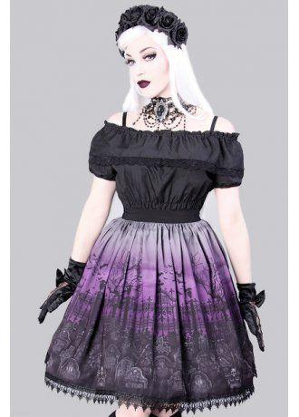 Restyle Cemetery Gothic Lolita Skirt | Attitude Clothing