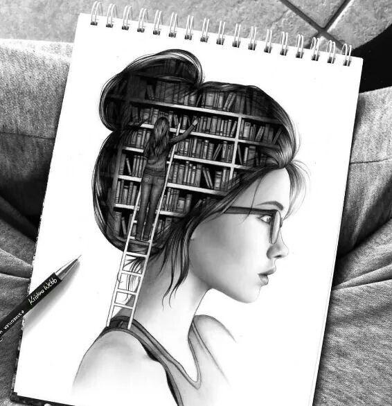 Dibujo biblioteca