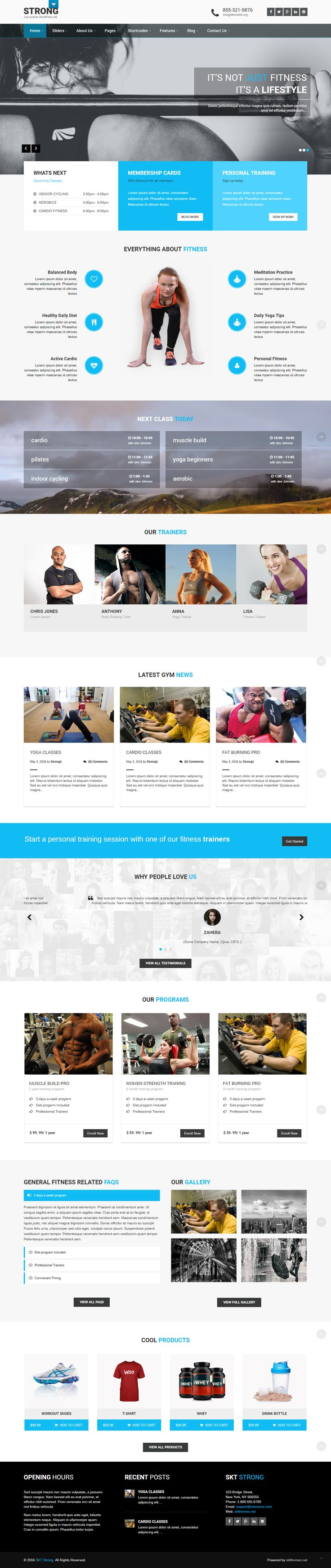 Free IT Business WordPress Theme for IT Type of Website