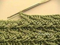 Free crochet relieve stitch pattern with tutorial (English and Russian)