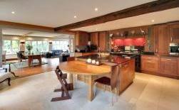 Crowbourne Grange - Stunning American Walnut Bespoke Kitchen by Edmonson Interiors in Goudhurst Kent