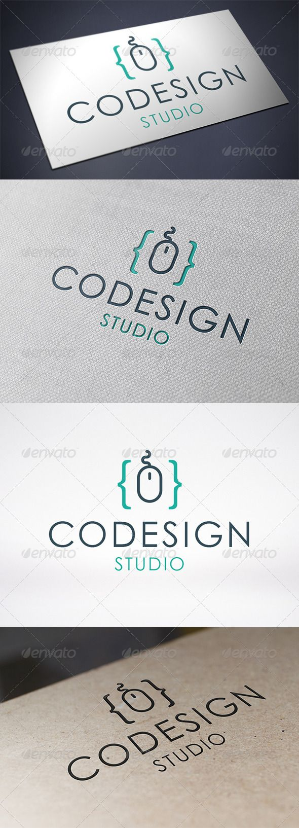 Code Design Logo Template  #GraphicRiver         - Three color version: color, greyscale and single color.   -
