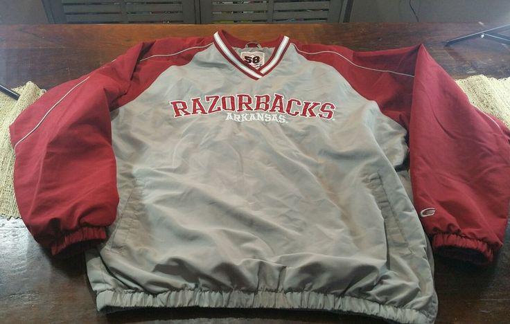 """58 Sports"" University of Arkansas Razorbacks Lined  Pullover Jacket Size Large #58Sports #ArkansasRazorbacks"