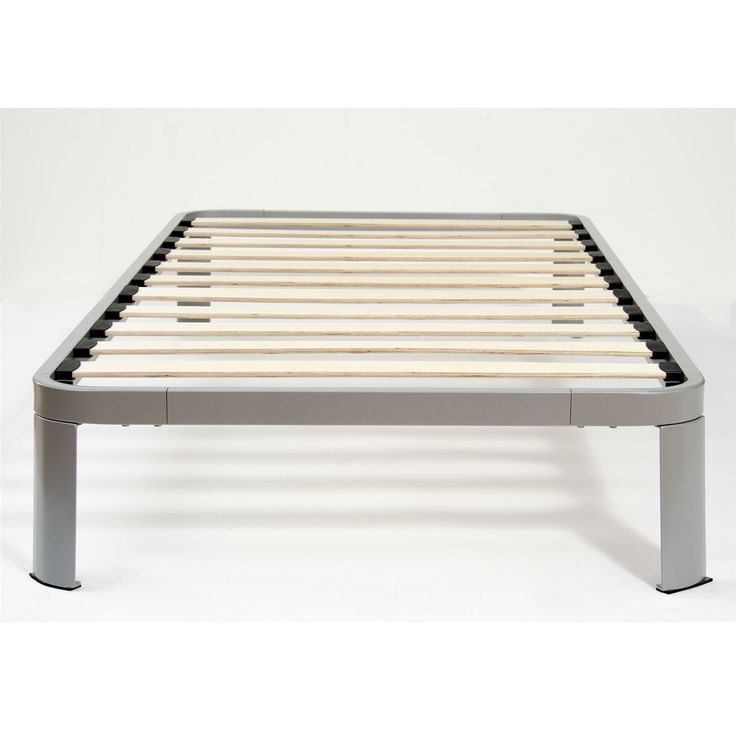steel platform bed frame twin xl 2