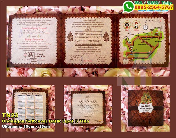 Undangan Softcover Batik Lipat 3 Tika & Wahyu HUB: 0852-2855-8701 (WA/Telp) #UndanganSoftcover #HargaSoftcover #desainundanganPernikahan #undanganPernikahan