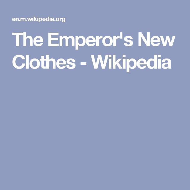The Emperor's New Clothes - Wikipedia