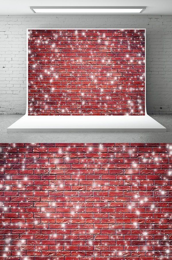 Red Brick Wall Snowflake Photography Backdrop Christmas Background In 2020 Christmas Photography Backdrops Brick Wall Backdrop Photography Backdrop