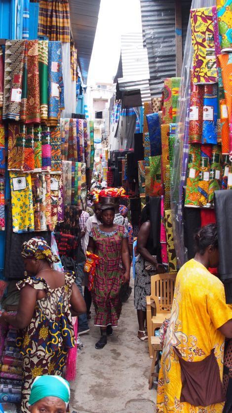 Textiles market, Ghana