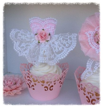 Cupcake Topper Sampler Set of 4 for Birthday Party or por JeanKnee